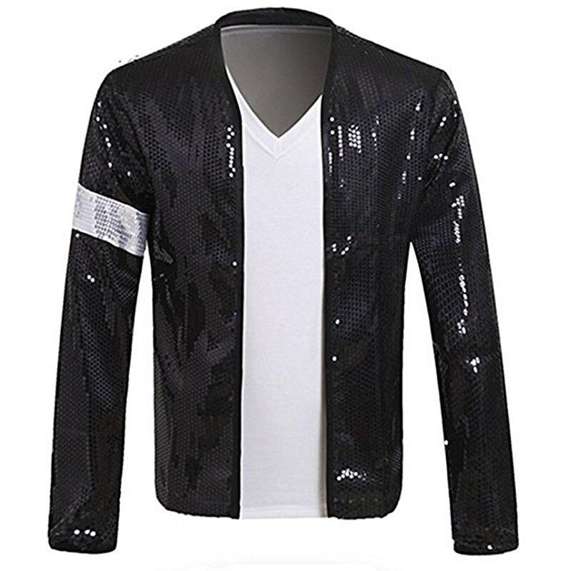 Raro Super MJ Michael Jackson disfraz de la chaqueta de Billie juela de la banda del brazo