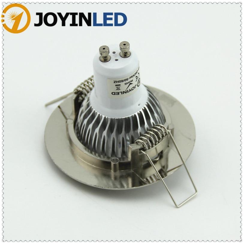 LED Ceiling lamp holder GU10/ MR16 Lighting ceiling spot light LED/spotlight lamp led lamp cup fixtures Sand nickel aluminum enlarge