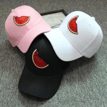 2019 New Summer Unisex Snapback Watermelon Hats Hip-Hop Adjustable Hat Cap In Baseball Caps  Women Men Cotton watermelon Print