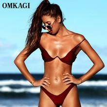 OMKAGI marque brésilien Bikini 2020 maillot de bain Sexy Push Up natation maillot de bain maillots de bain à armatures Bikinis ensemble maillots de bain femmes