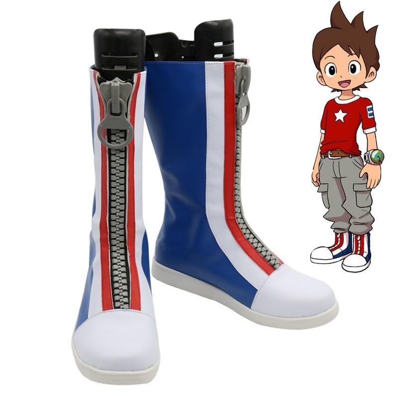 Youkai Watch Nathan Adams Cosplay botas fiesta Anime zapatos hechos a medida