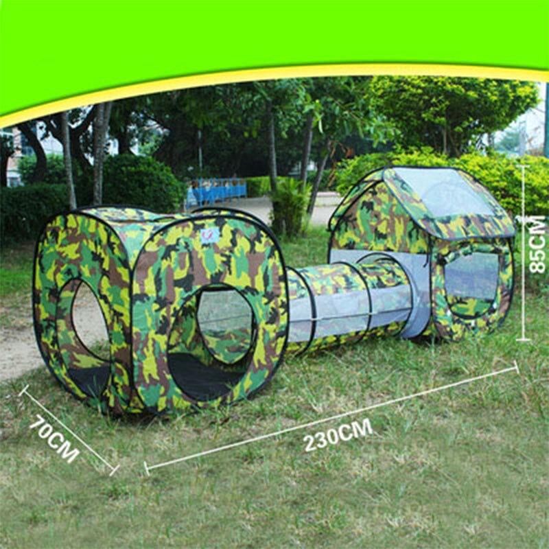 3 w 1 kamuflaż transfer namiot do zabawy tunel wodoodporny domek dla dzieci namiot dla dzieci tunel zabawki dla dzieci trzyczęściowy basen z piłeczkami