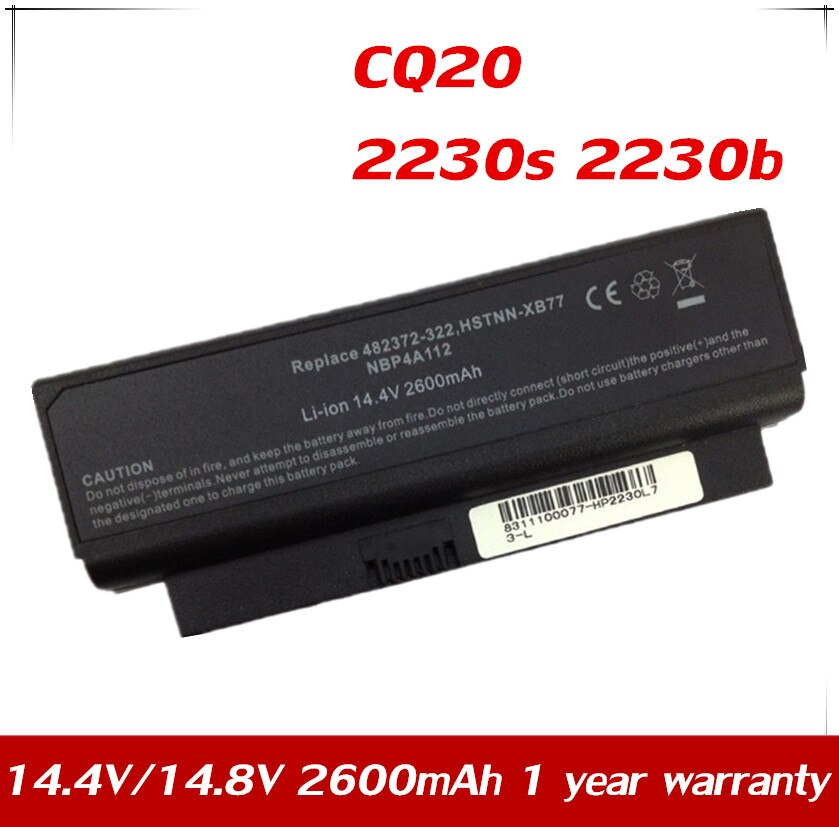 7XINbox 14.4V بطارية ل HP كومباك CQ20 2230s 2230b CQ20-100 HSTNN-XB77 HSTNN-OB84 HSTNN-DB77 HSTNN-I53C NBP4A112 HSTNN-XB84