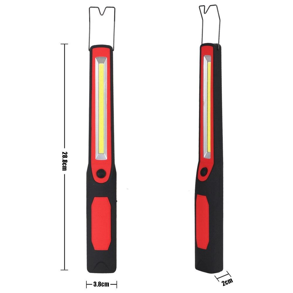 QUENTE LEVOU Luz De Trabalho Com Gancho Magnético Ímã USB Recarregável Lâmpada De Emergência para Camping Ciclismo TI99