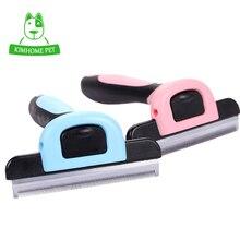 Cão escova pet grooming ferramenta de remoção do cabelo pente para cães gatos escova destacável cabelo derramamento aparar atacado