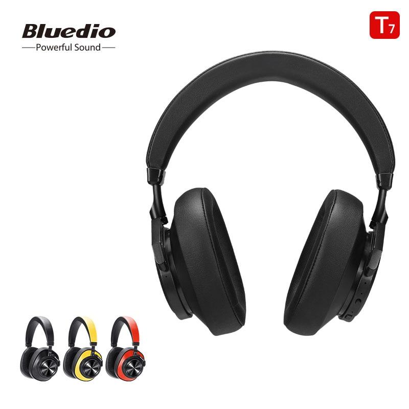 Fones de Ouvido com Cancelamento de Ruído Fone de Ouvido sem Fio para Telefones e Música com Reconhecimento Bluedio Bluetooth Ativo Facial Usuário-definir t7