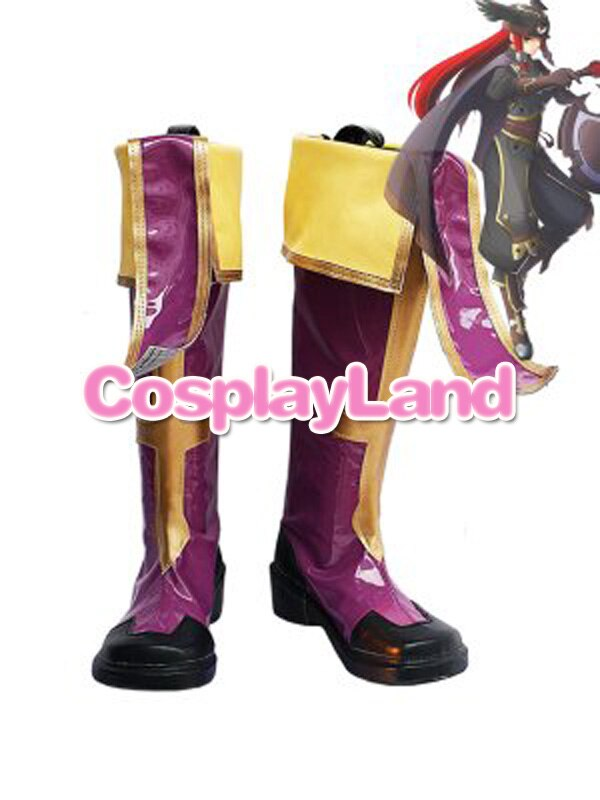 BlazBlue Tsubaki Yayoi Cosplay zapatos botas Anime fiesta Cosplay botas zapatos hechos a medida