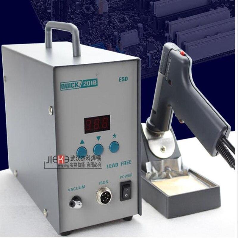 Original rápida 201b esd elétrica sucção lata arma quick201b desmontar estática sucção elétrica estanho bomba 90w