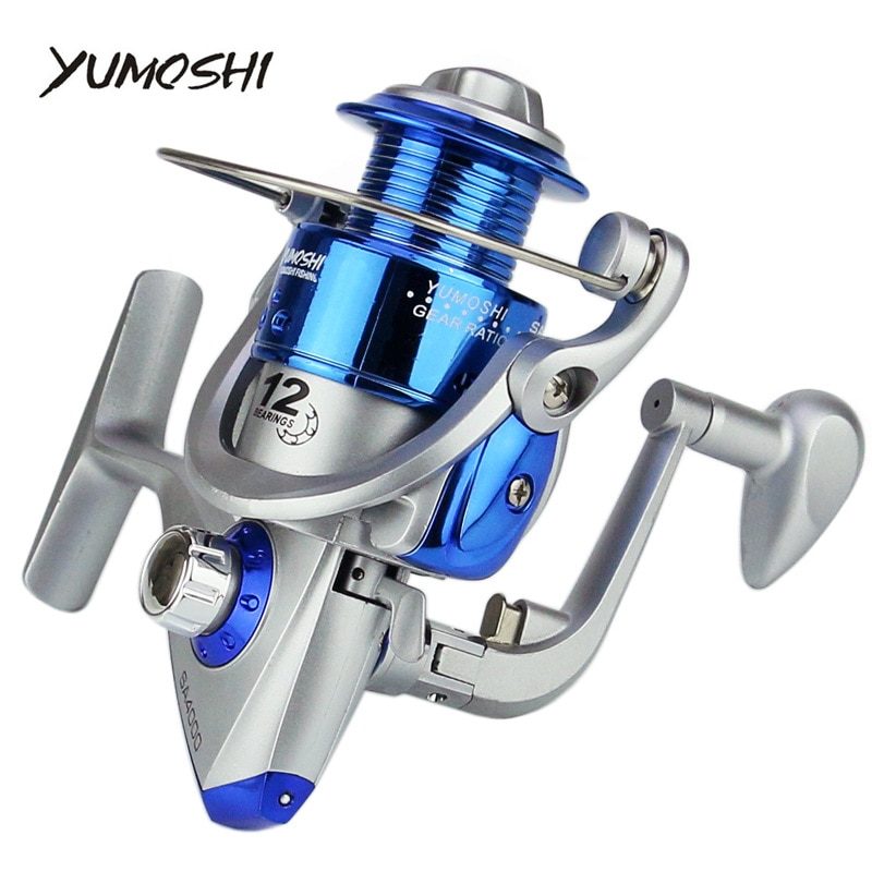 Yumoshi wheels fish spinning reel 5.51 12BB 1000-7000 series  pesca carretilha peche Spinning wheel type рыбалка lure fishing