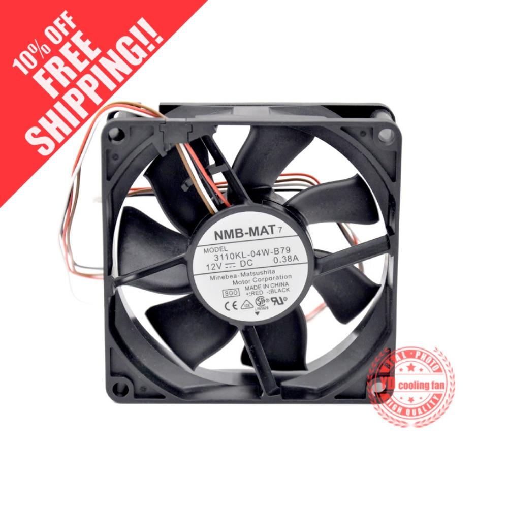 NOVA NMB-MAT 3110KL-04W-B79 Minebea 8025 12 V 0.38A 8 CM rolamento ventilador de refrigeração 4 linhas