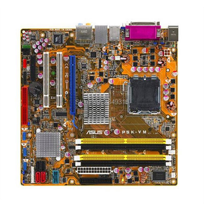 For ASUS P5K-VM Used original motherboard Socket LGA 775 DDR2 G33 Desktop Motherboard
