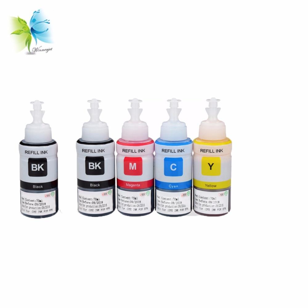 Winnerjet 5 Juegos x 5 colores 100ml de tinta ciss para Canon MG6840 MG5740 TS5040 TS6040 tinta Dye impresión