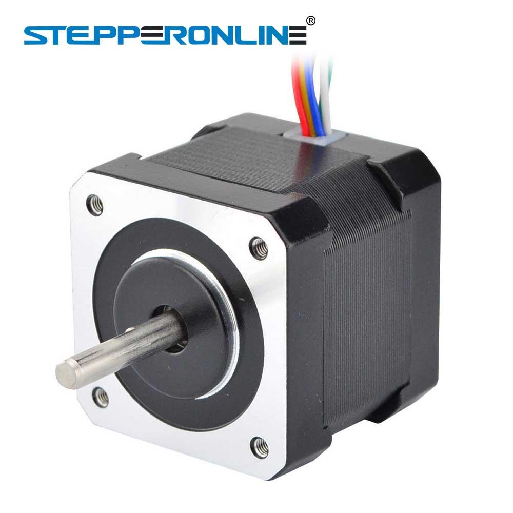 6-plomo Nema17 paso a paso Motor Unipolar 39mm 42 Motor 42BYGH 26Ncm (37oz en) 0.4A 12V para DIY CNC 3D impresora Motor