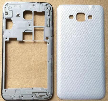 Carcasa Original de la puerta de la batería del marco de La placa central + botón lateral para Samsung Galaxy Grand Max G7200