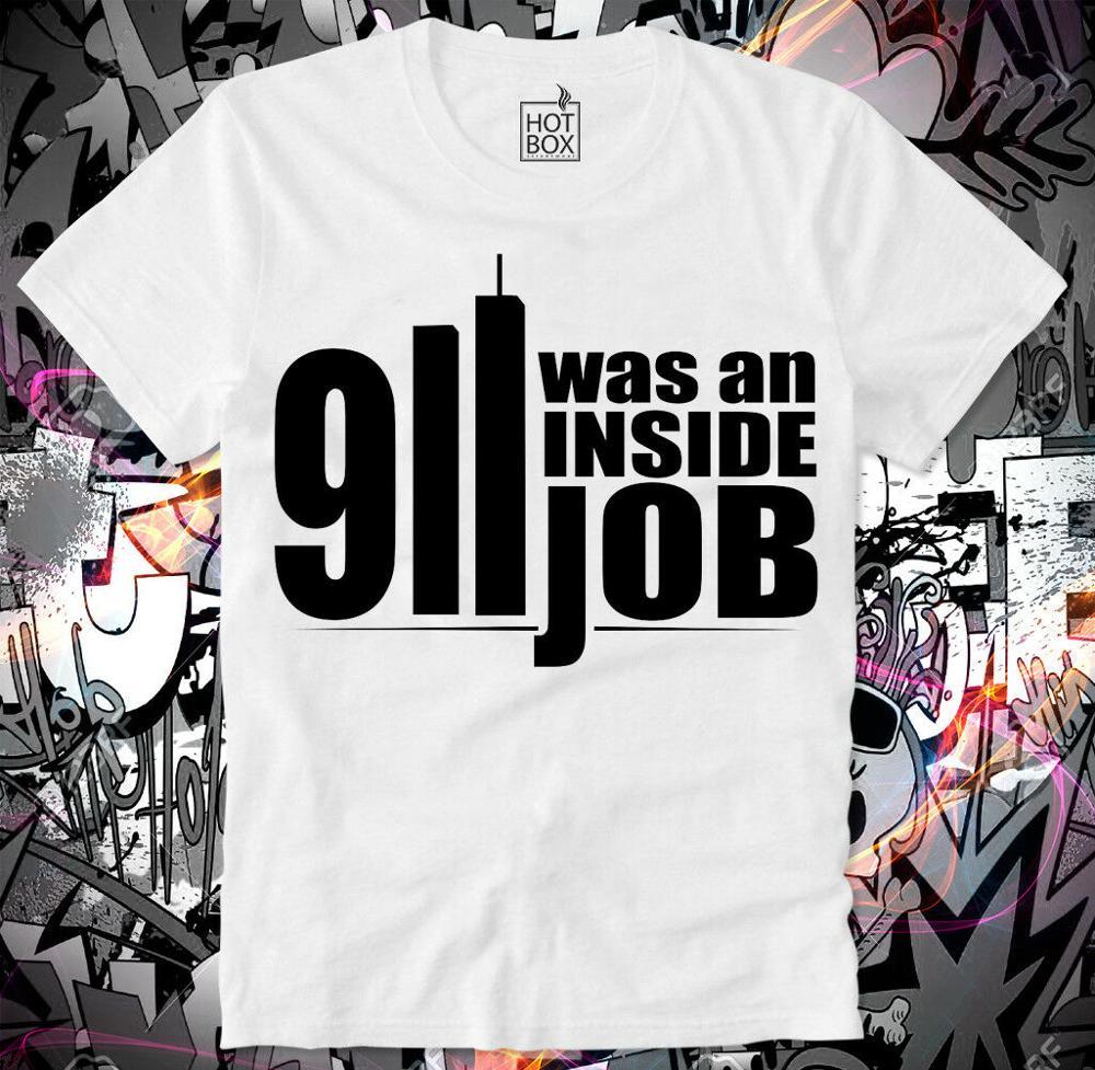 9/11 футболка с надписью «A Inside Job Conspiracy 911 Q Anon Chemtrails», новинка 2019, мужская летняя тонкая модная одежда, брендовая футболка