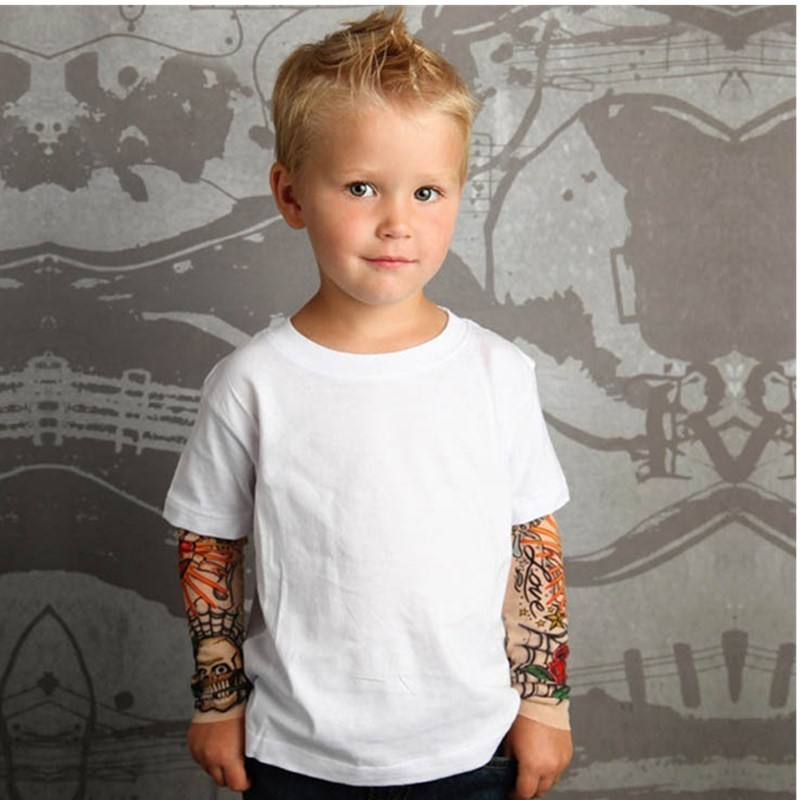 Tatoo Summer Wear New Pattern Long Sleeve Children
