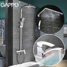 GAPPO bathroom shower faucet set bathtub faucet mixer tap waterfall wall shower head shower Basin Faucet set GA4507+GA2407-8
