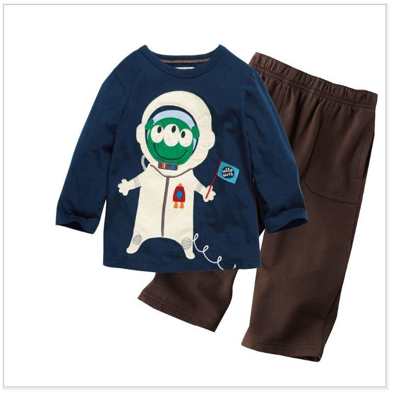 Pilot Boys chándales de manga larga, camisetas, pantalones, traje deportivo para niño, Tops, conjunto de ropa para niños, Jersey bordado para niños