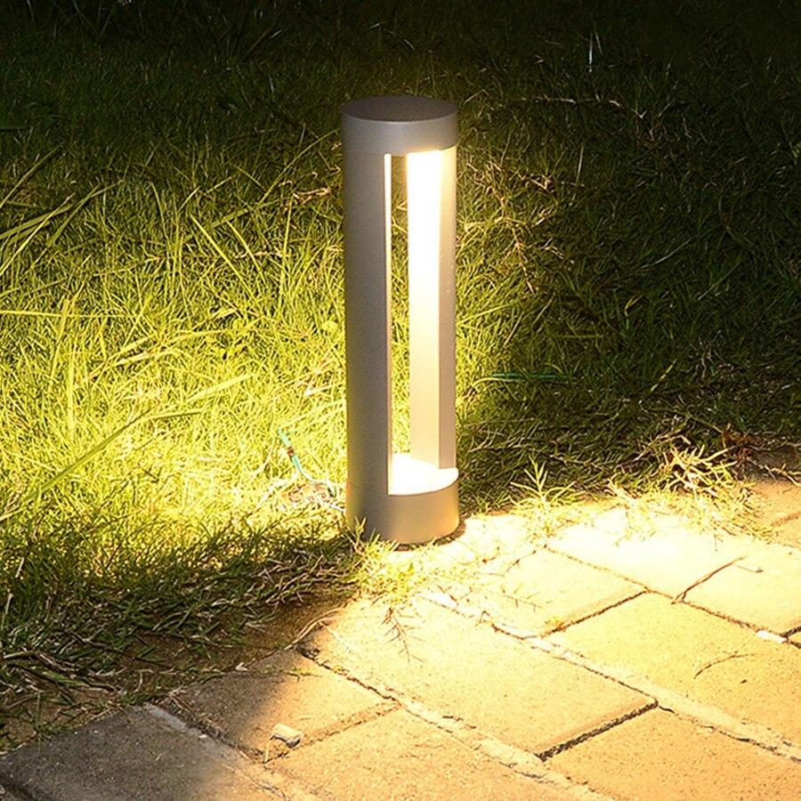 Thrisdar 60 CM, soporte para exteriores, poste de columna, luz de césped, impermeable, pilar de jardín, lámpara de césped, camino de patio, poste de luz de bolardo