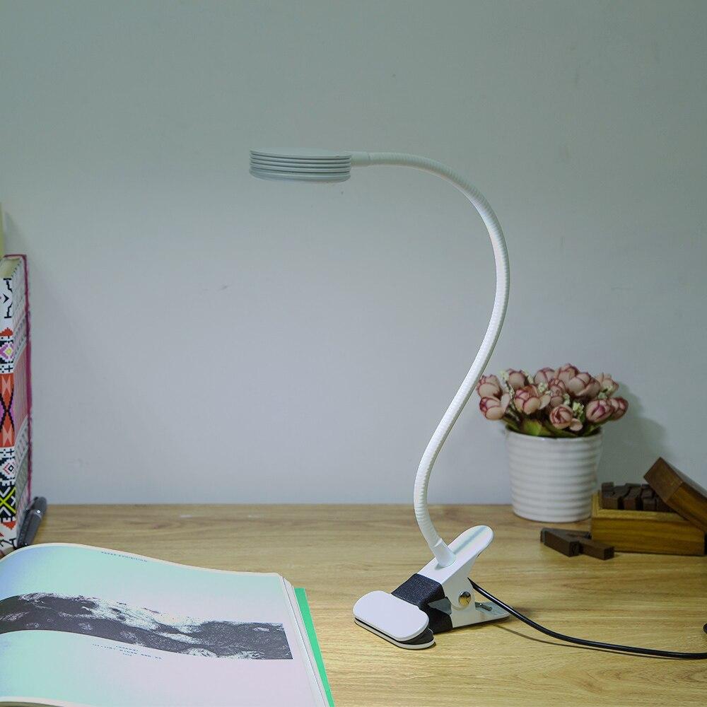 Lámpara de lectura LED, soporte de música de hoja de libro Flexible de 360 grados, luz de lectura, luces para dormitorio de estudiantes con Clip