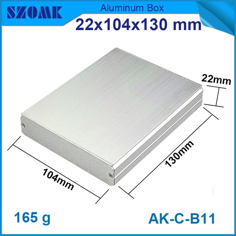 10 قطعة/الوحدة الألومنيوم يموت غلاف الإسكان في الفضة اللون طلى بأكسيد الألومنيوم مربع 22(H)x104(W)x130(L) mm الرطوبة الاستشعار مربع