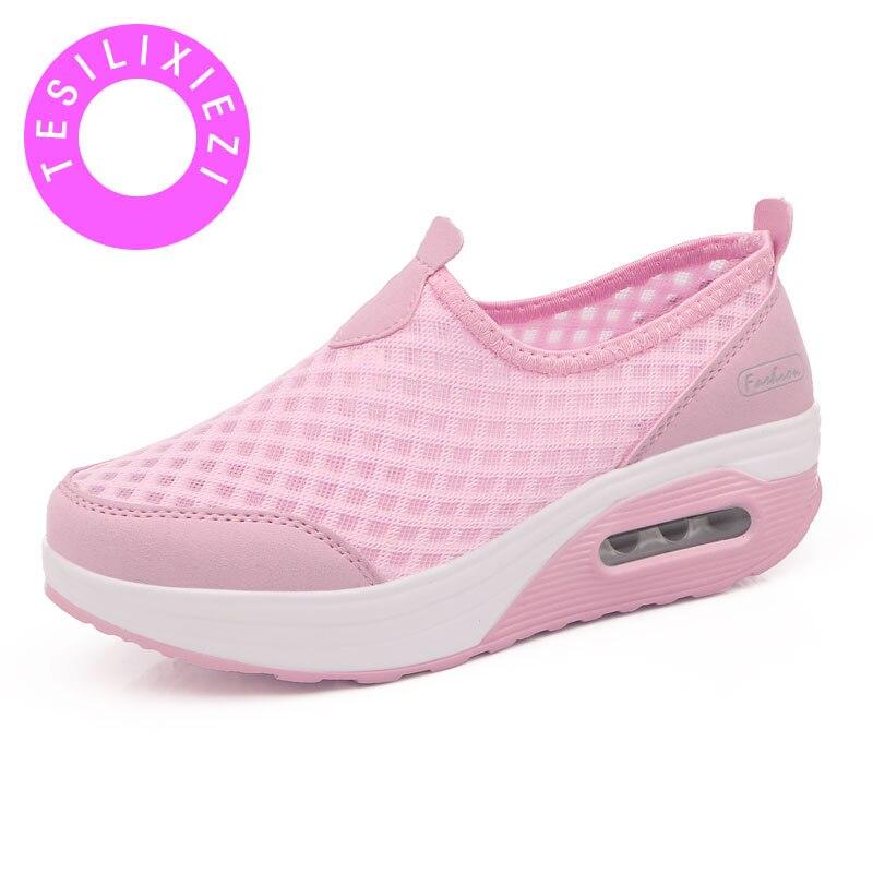 Marca 2018 nuevos Zapatos de plataforma transpirables de plataforma de mayor comodidad...