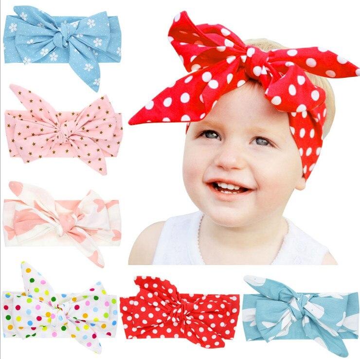 2020 moda bebê menina bonito supremo bandana bebe crianças meninas arco dot headbands arco boho coelho ponto bowknot headwear foto adereços