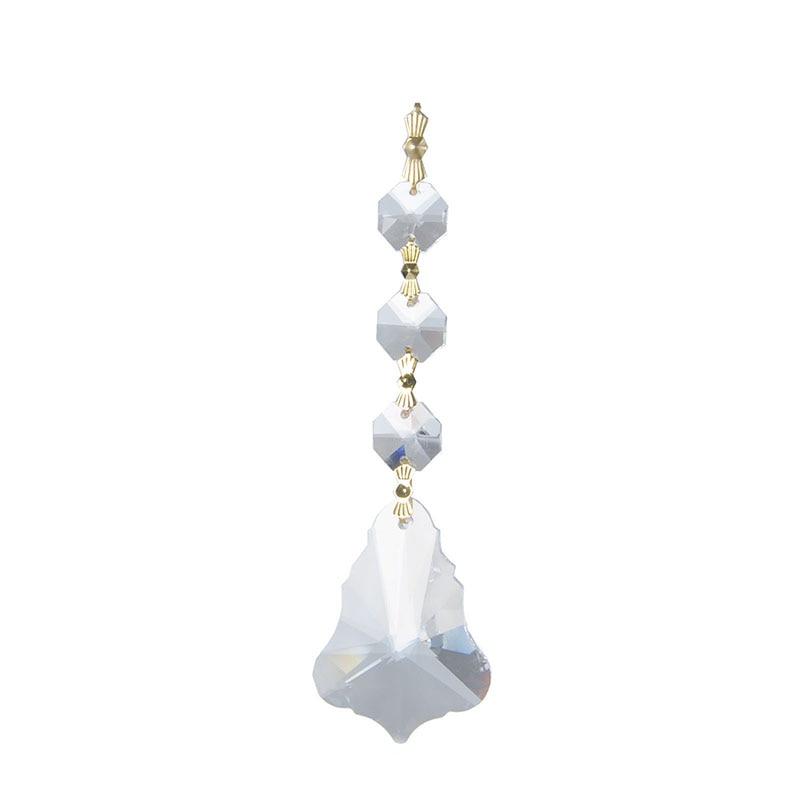 10 Uds cristal atrapasol claro gota colgante cristal araña de cristal piezas prismas herramienta de decoración del hogar belleza lámpara colgante