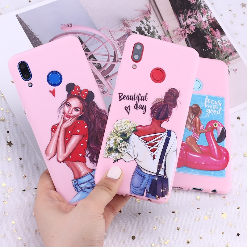 For Samsung A41 S8 S9 S10 S10e S20 Plus Note 8 9 10 A8 Fashion Queen Classy Paris Girl Summer Travel Candy Silicone Phone Case