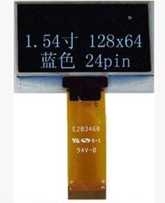 Interfaz de 24 Pines de 1,54 pulgadas 8Bit azul o blanco pantalla OLED SSD1305 unidad IC 128*64 SPI I2C Puerto 128x64