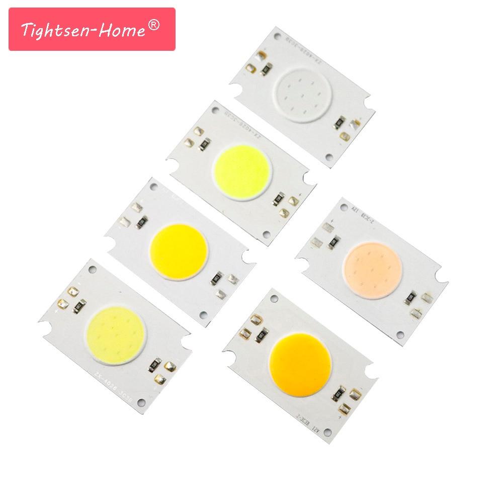 Bombilla LED COB de 40x26mm, fuente de 12 V, 2 W, diodo LED, Chip de iluminación, rojo, azul, rosa, verde, amarillo, blanco, para bombillas de lámpara DIY