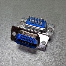 DB15 Port VGA parallèle mâle 3 rangées   Connecteur de soudure de sous-soudure HDB15 15 broches D 10 pièces/lot