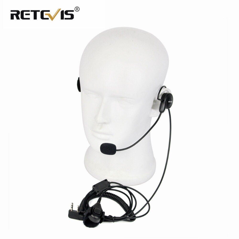 Universal 2Pin dedo PTT auricular de micrófono auriculares para Kenwood para $TERM impacto BAOFENG UV-5R Bf-888s Retevis H777 RT5 Walkie Talkie