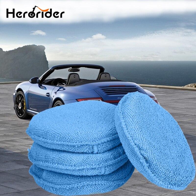Car Vehicle Care Foam Sponge Hand Soft Microfiber Foam Sponge Pad Buffer for Car Detailing Care Wash Clean