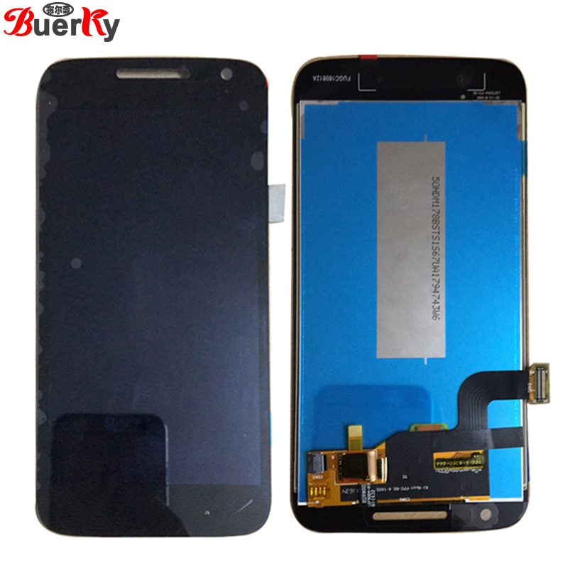 Pantalla táctil LCD XT1607 XT1609 LCD digitalizador reemplazo completo de montaje BKparts 5 unids/lote para Motorola G4 Play