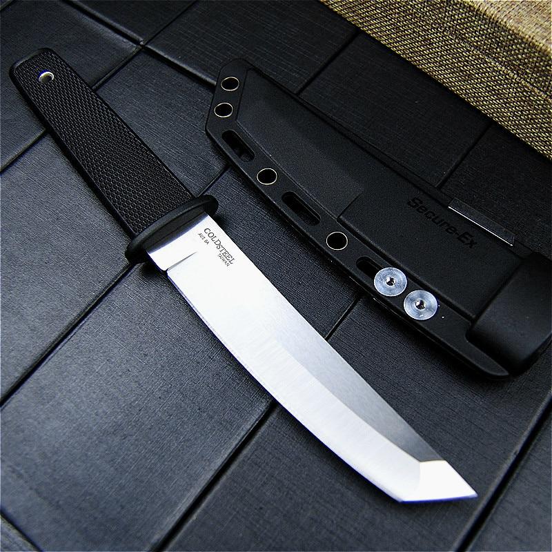 Cuchillo de hoja fija EVERRICH de acero frío para caza, cuchillo largo de acero inoxidable 440, Kraton mango de plástico, cuchillo táctico al aire libre, funda ABS