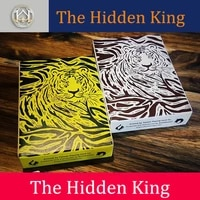 the hidden king amur tiger manchurian tiger playing cards poker size deck by twpcc new sealed magic cards magic tricks props