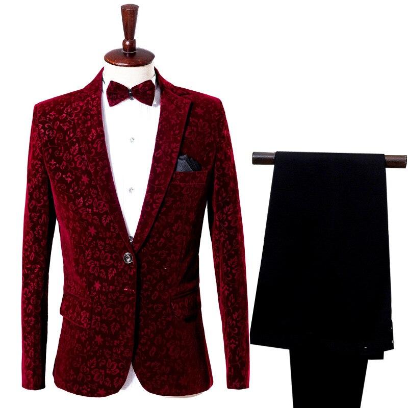 BOCO 2020 hommes comme le vin rouge ombre hôte adulte costume scène costumes chanteur photographie costumes