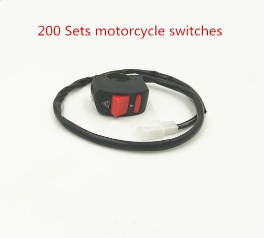 200X manubrio universal de motocicleta interruptor de luz de peligro de accidente botón de encendido/apagado para faros led de motocicleta focos de lámparas