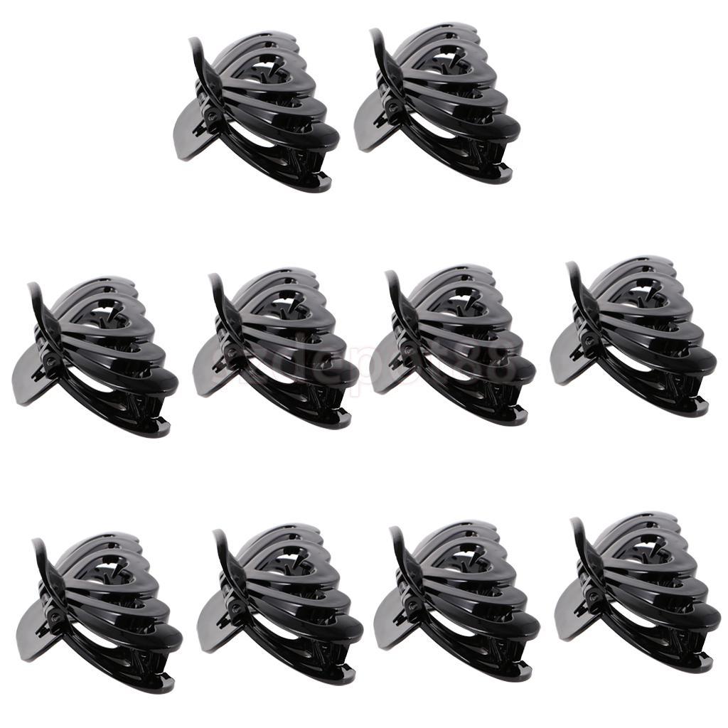 10 piezas de moda negro pelo garras corazón hueco pasador de pinza para las mujeres de plástico Clip de pelo