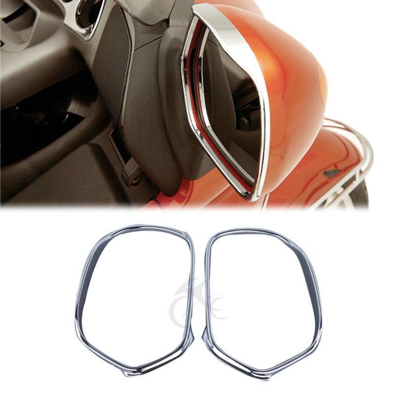 Мотоцикл хромированные зеркала отделка для Honda Goldwing GL1800 GL 1800 2001-2012 2003 2005 2007 2009 2010 2011 аксессуары