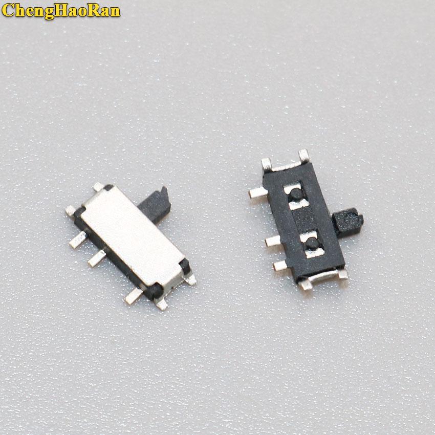 Interruptor de corrediça horizontal diminuto do interruptor de corrediça da posição 2 micro interruptor de corrediça do pino de chenghaoran 5-10 mini interruptor de corrediça do pino