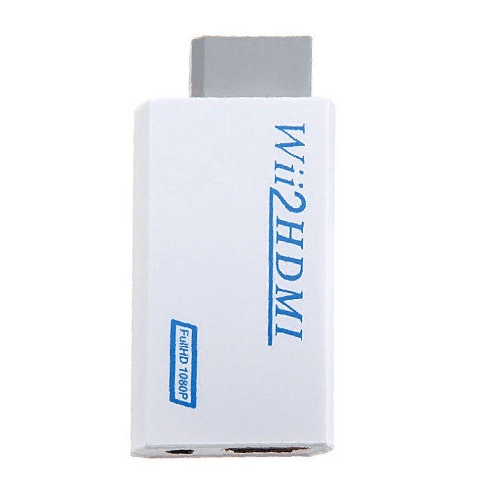 Para Nintendo Wii adaptador conversor sin complicaciones Plug and Play para Wii a HDMI 1080p Wii2hdmi 3,5mm caja de Audio para Wii-link