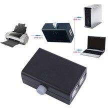 Zwart Abs Universele Mini Usb Sharing Share Switch Box Hub 2 Poorten Pc Computer Scanner Printer Handleiding Grote Promotie