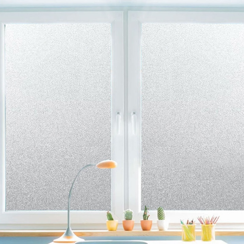30/45/60/80/90cmPVC Frosted Window Film Waterproof Glass Sticker Home Bedroom Bathroom Office Privac