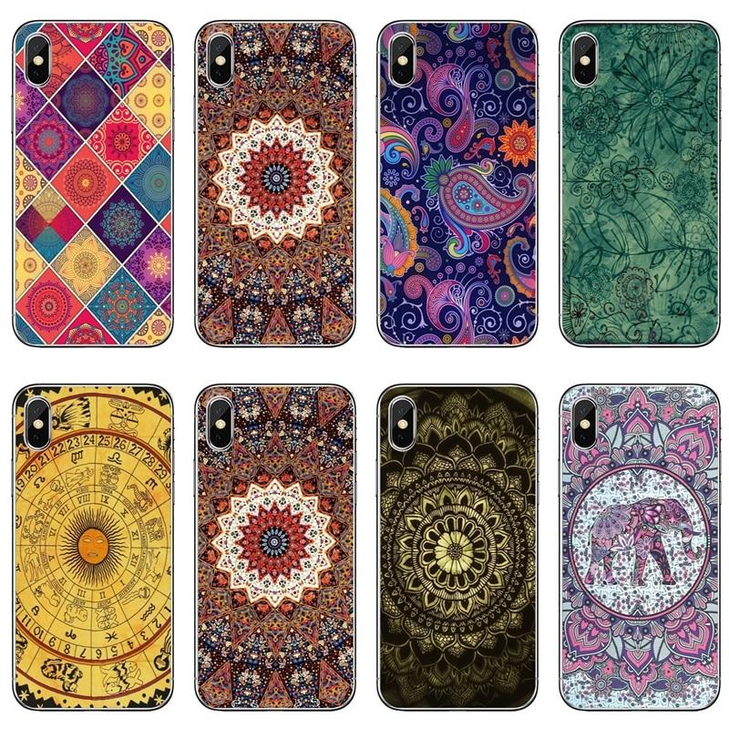 Tapisserie bohème Hippie Mandala tpu étui pour samsung Galaxy A10 A30 A40 A50 A60 A70 Huawei P30 lite pro P Smart Y6 2019
