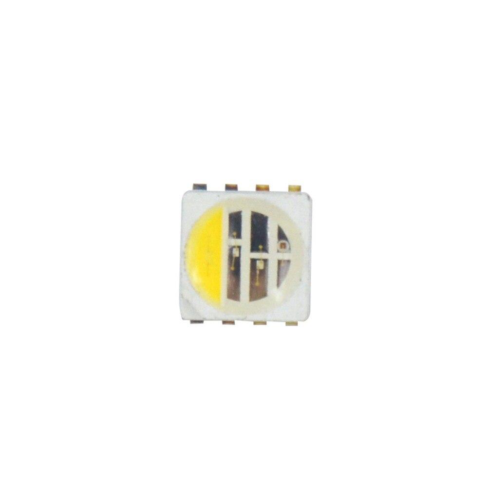 50 ~ 1000 Uds 5050 cuenta SMD LED RGBCW (RGB + blanco) para led tira de luz Epistar chip 4 colores (+ G R + B + W) en 1 chip led