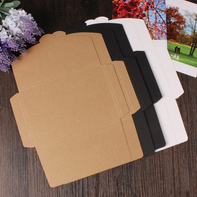 50 шт./лот 3 цвета винтажная пустая Крафтовая бумага «сделай сам» многофункциональная коробка для открыток, упаковочная бумага оптом