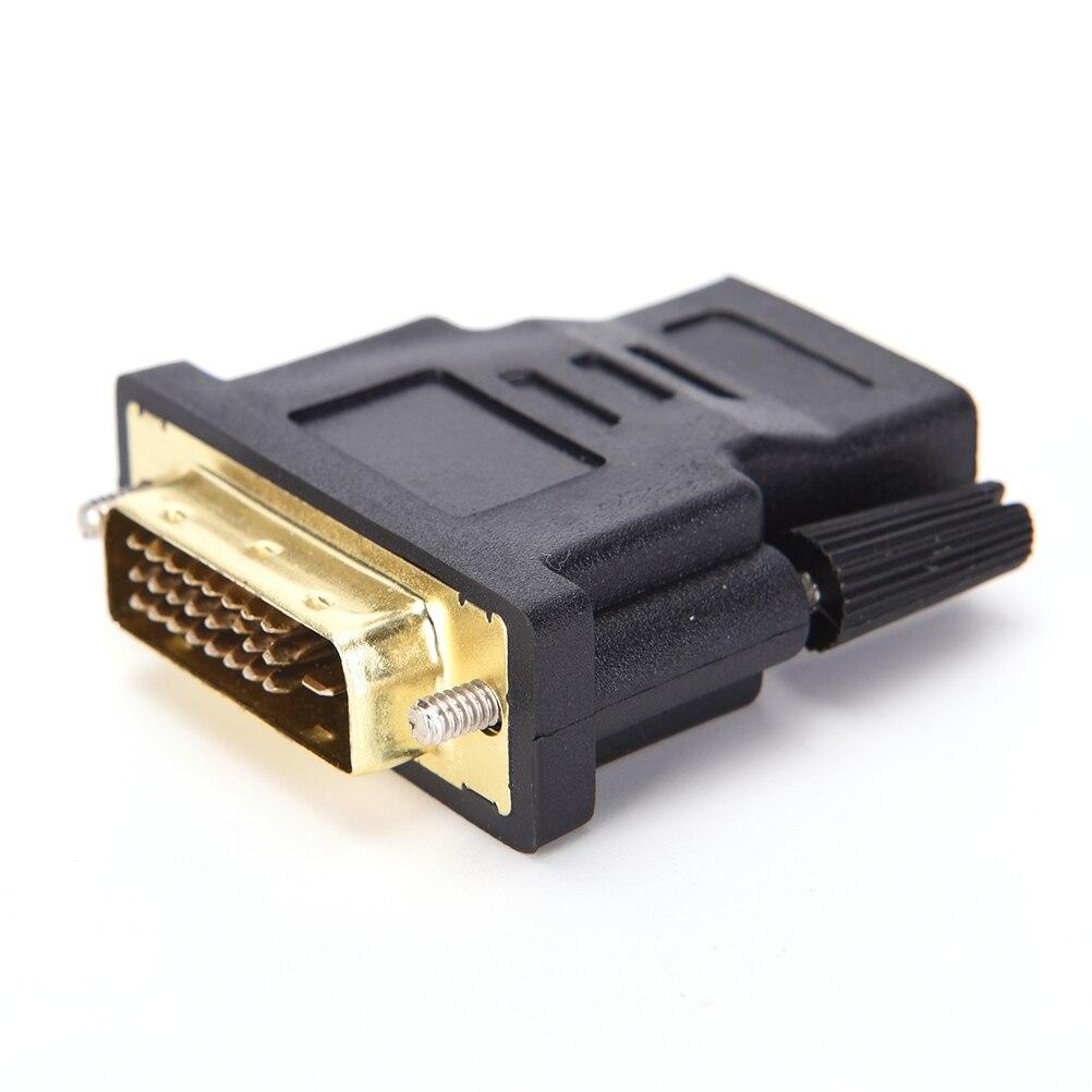 DVI-D M-F 24 + 1 Pinos Macho Para HDMI Fêmea Adaptador Conversor Para HDTV LCD Monitor 1 pcs X M-F adaptador Conversor