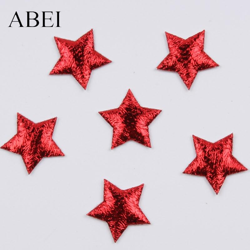100pcs 20mm Christmas Red Star Stick On Sticker DIY Crafts Ornaments Wedding Party School Decoration